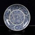Синий и белый фарфор цветочный узор тарелка из китайского фарфора Фруктовая тарелка украшение красивая декоративная тарелка подарок