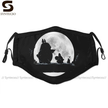 Nocna maska ochronna na twarz Hakuna Totoro maska na twarz fajne modne z 2 filtrami dla dorosłych
