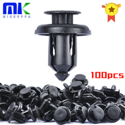 100PCS Bumper Clips 10mm Push Fender Flare Fastener for Honda and Acura Plastic Rivet Retainer Clips Replace OEM 91503-SZ3-003