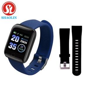 Image 1 - איש נשים חכם צמיד שעון צבע מסך קצב לב לחץ דם ניטור מסלול תנועה חכם להקת עבור אנדרואיד ios של אפל