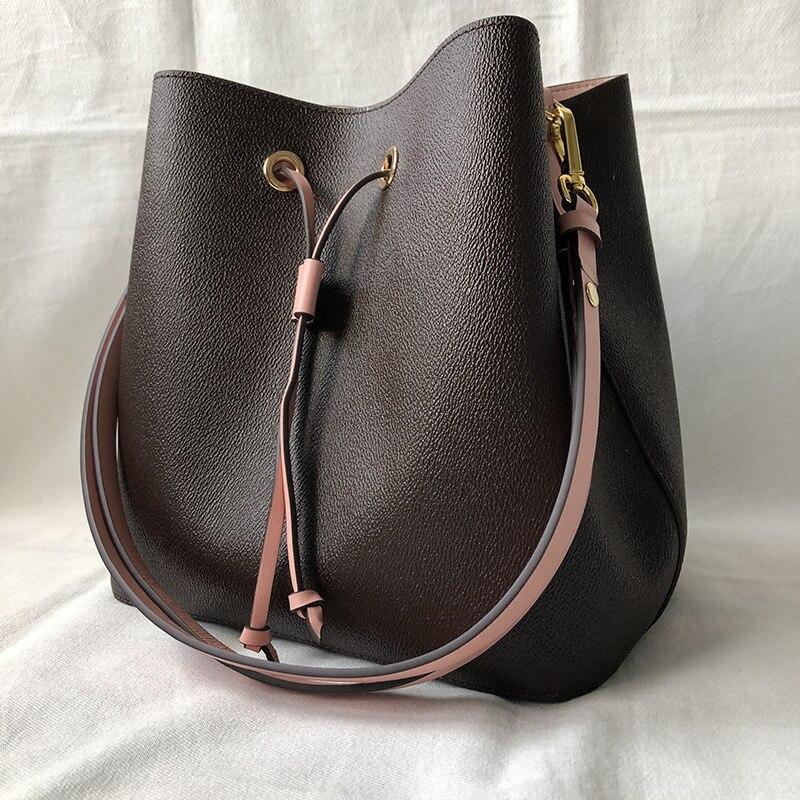 Top Quality NeoNoe Bucket Bag Luxury Handbags Bags For Women 2020 Designer Brand Shoulder Handbags Monogram Bucket Bag Pink