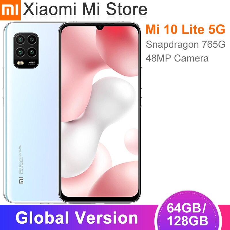 "Global Version Xiaomi Mi 10 Lite 5G Smartphone 6GB 64GB 6.57"" Screen 4160mAh Battery Snapdragon 765G 48MP Cameras NFC|Cellphones| - AliExpress"