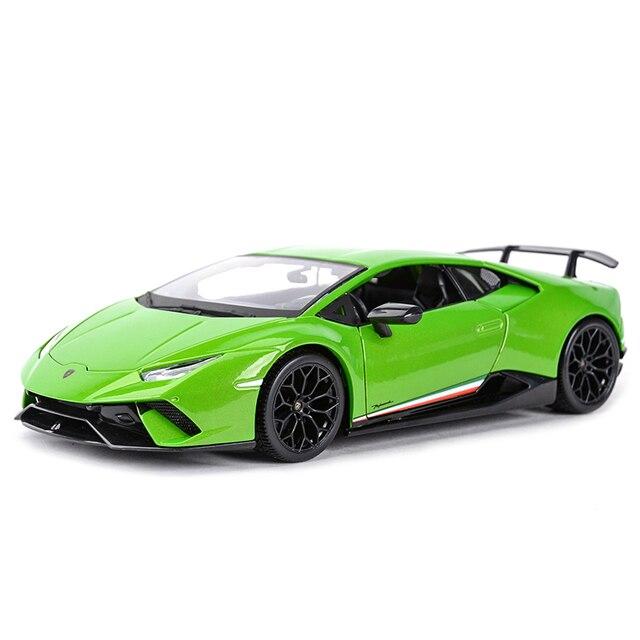 Maisto 1:18 הוריקן Performmante LP610 4 ירוק ספורט רכב סטטי סימולציה למות יצוק כלי רכב אספנות דגם רכב צעצועים