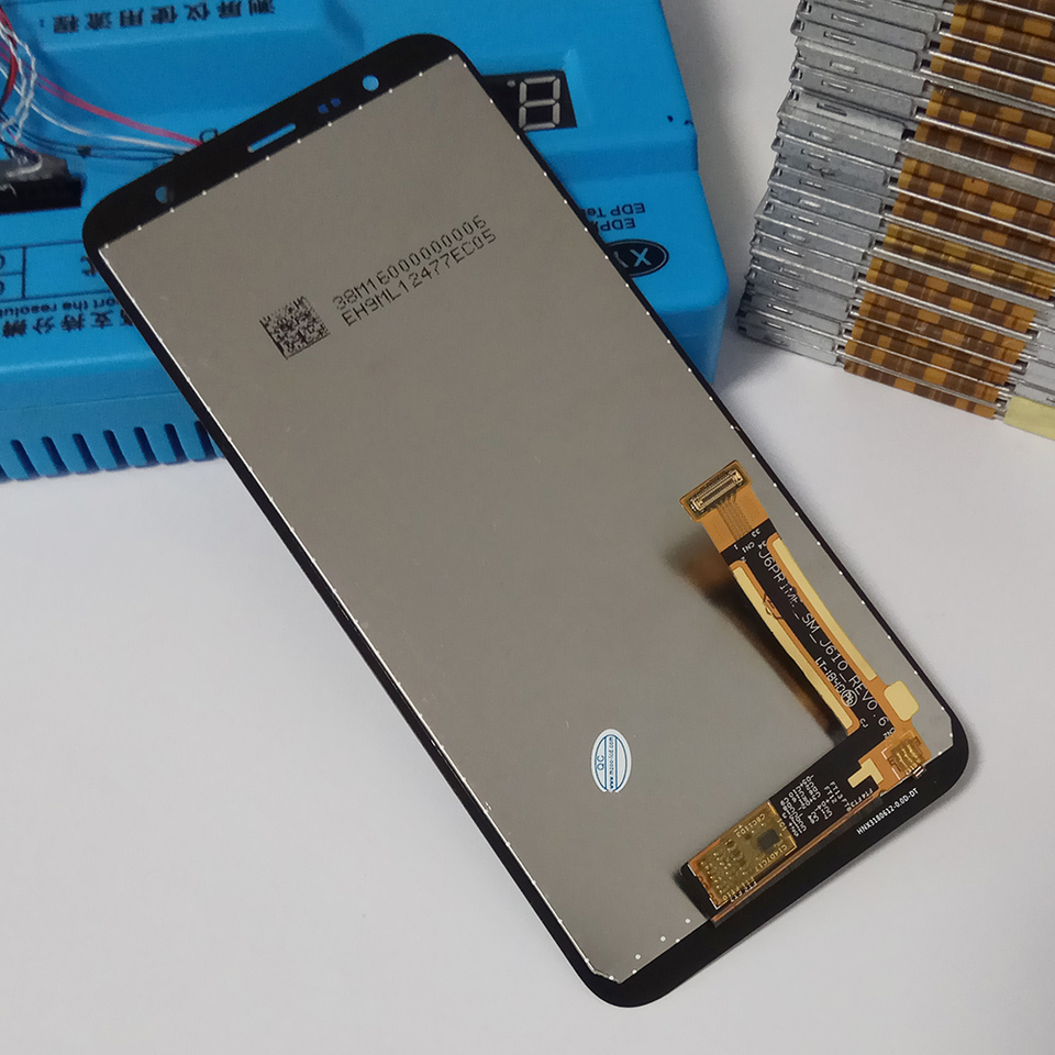 YANGJ Phone LCD Screen PLS TFT Material LCD Screen and Digitizer Full Assembly with Frame for Galaxy M40