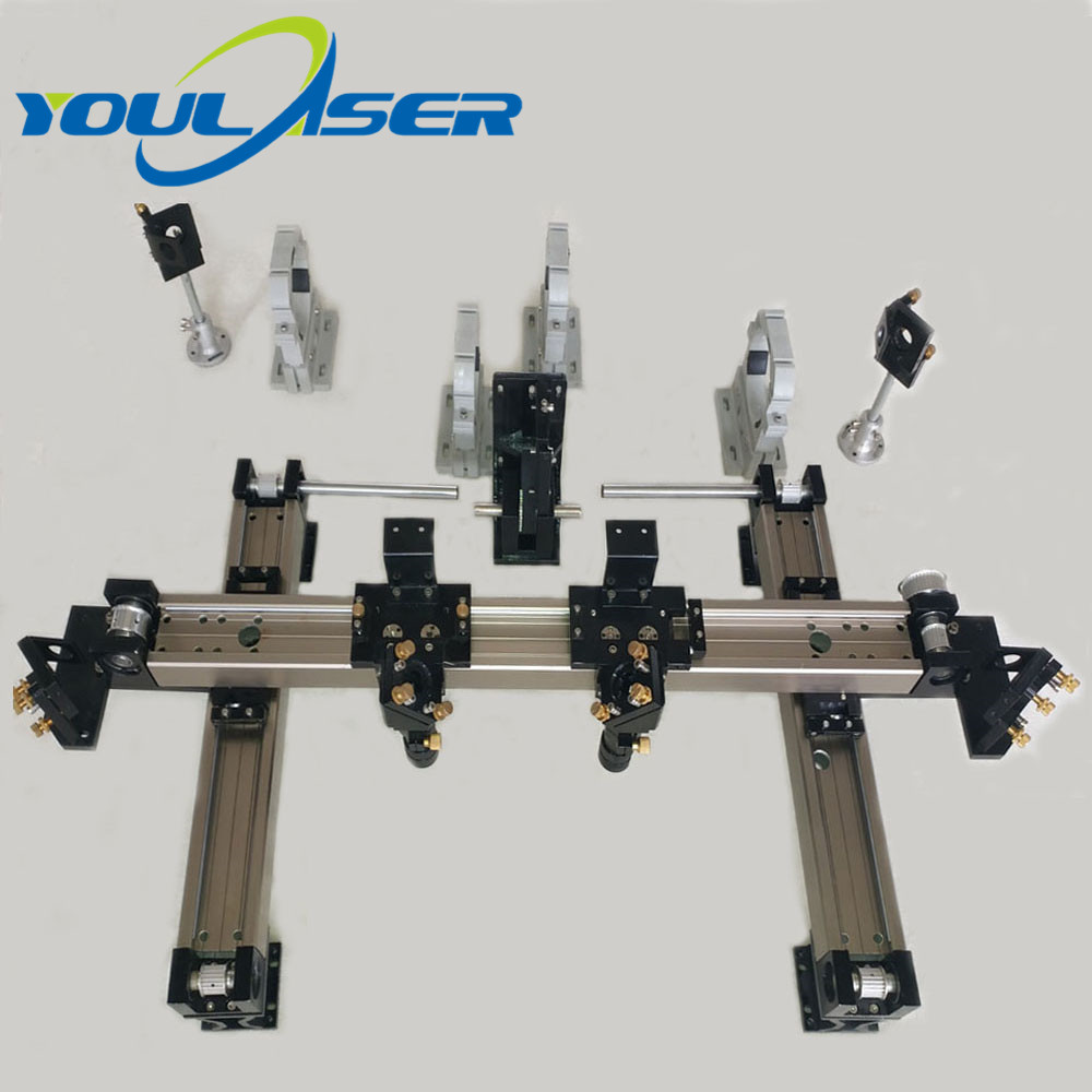 Mechanical Parts Set 600mm*900mm Double Head Laser Kits Spare Parts For DIY CO2 Laser 6090 CO2 Laser Engraving Cutting Machine