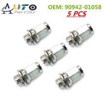 90942 01058, 90942 01058, 9094201058 OEM New Wheel Hub Nut with High Quality for Toyota Chrome Corolla Camry RAV4 Lug Nuts 5pcs