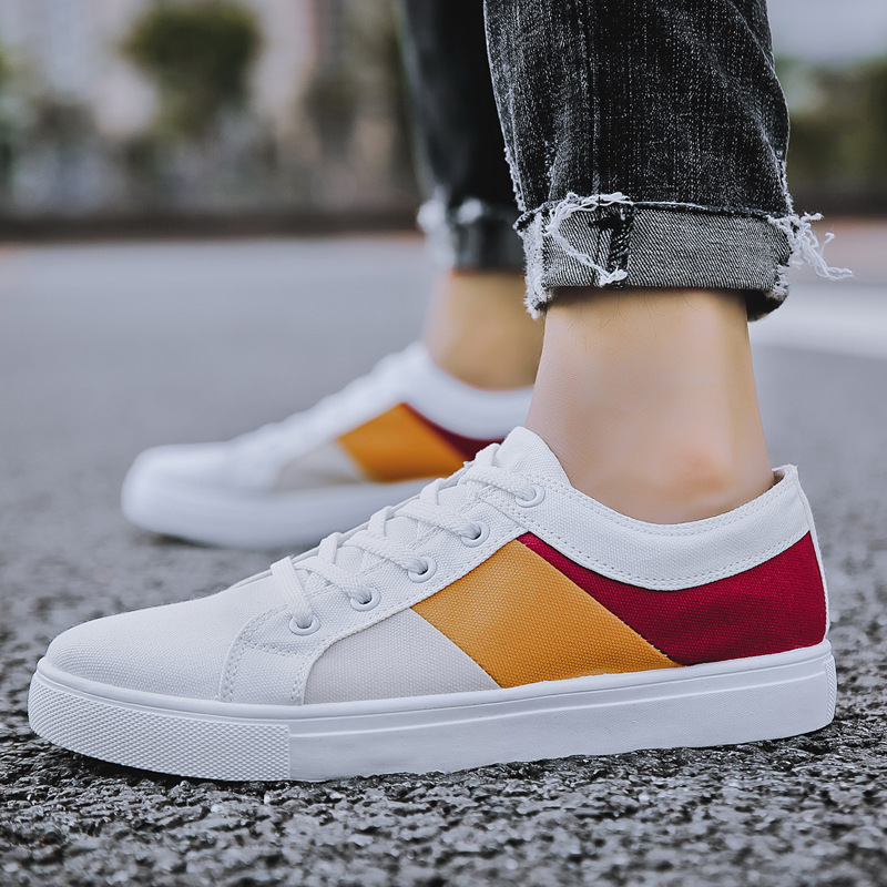 Image 4 - REETENE 2019 New Cheapest Casual Shoes Men Autumn Spring Casual Shoes Mens Canvas Shoes For Men Lace Up Flat Loafers ShoesMens Casual Shoes   -