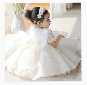 Nuevo Vestido de bebé niña desfile flor niño niñas fiesta tutú Vestido de bautismo Floral cumpleaños vestidos de bautizo Infantil Vestido