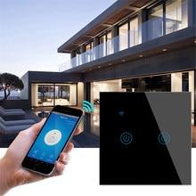 Ubaro Eu Gehärtetem Glas Tuya Smart Home Wi-Fi Schalter Unterstützung Stimme App Control Google Home Alexa Schalter 1/2/3 Gang Ac170-240V