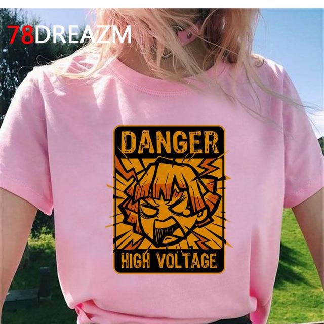 Demon Slayer clothes top tees female harajuku kawaii harajuku japanese tshirt summer top harajuku kawaii white t shirt 5