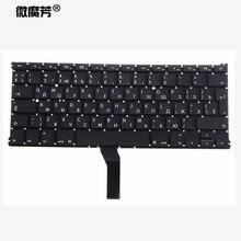 """Russe RU nouveau clavier dordinateur portable pour Macbook Air 13 """"A1466 A1369 clavier MD231 MD232 MC503 MC504 2011 15 ans"""