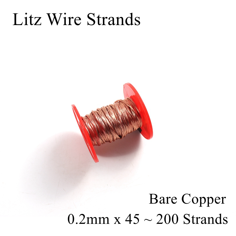 0.2mm <font><b>45</b></font> 50 60 70 <font><b>80</b></font> 90 100 120 150 160 200 Strand Litz Wire Strands Polyurethane Enameled Copper Multi-strand Litz Wires 0.2 image