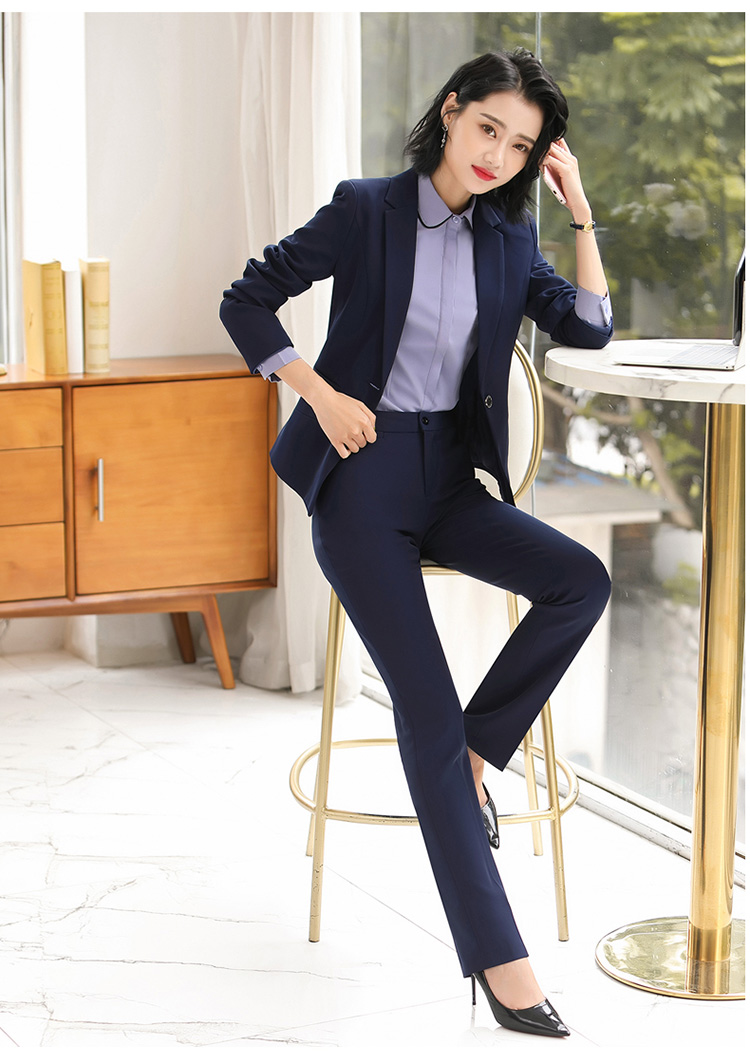 H03236d2c93a74465af98ed6eff4c033fb - Autumn Business Casual Long Trousers Women Solid Black Blue Red Formal Pants Office Ladies Work Wear Straight Suit Pant 4XL