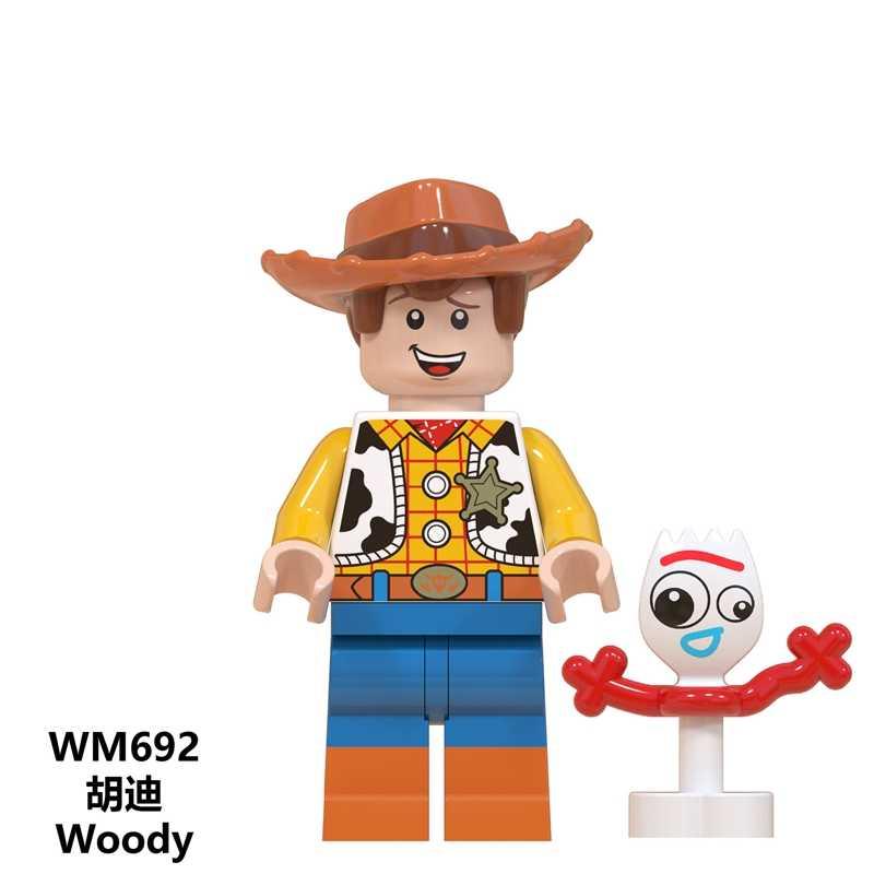 Para brinquedos história buzz lightyear woody jessie aliens bulleye hamm rex desenhos animados blocos de construção figuras modelo brinquedos para ghildren presentes