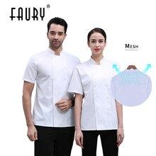 Overalls Chef-Jacket Workwear Kitchen-Uniform Sushi Barber-Shop Catering Bakery Hotel