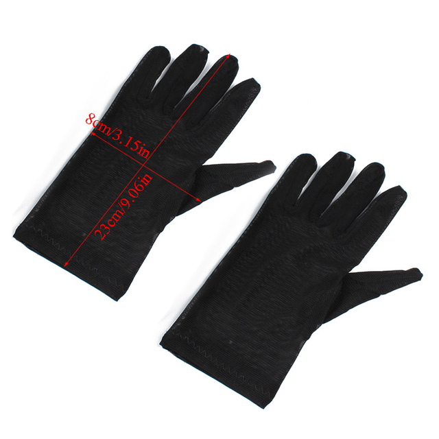 women white Sexy Lace Sunscreen Gloves Summer Spring Long Solid Black Transparent Elastic Anti-UV Driving Opera Gloves 1