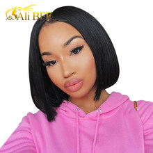 13*6 Brazilian Wig Straight Short Bob Lace Front Wigs 13x6 Lace Front Human Hair Wigs Pre-plucked With Baby Hair deep part bob