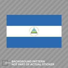 Autocollant drapeau du Nicaraguan, étiquette vinyle, en PVC, pour voiture, moto, ordinateur portable