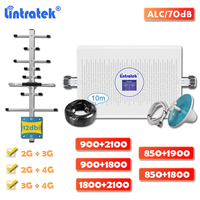 Lintratek 4G Signaal Booster Gsm 900 Dual Band Dcs Lte 1800 Wcdma 2100 Cellulaire Repeater Cdma 850 Pcs 1900 versterker Volledige Kit