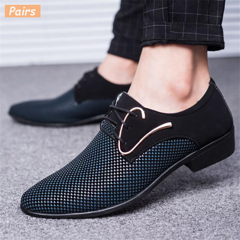 2019 New Fashion Spring Autumn Men Casual Shoes Breathable Lace-Up Men Flats Shoes Wear Comfortable Male Dress Shoes BigSize