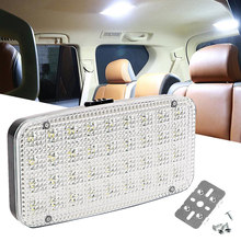 Luces interiores para automóvil, lámpara de techo de 12V con 36 luces LED para techo de Barra blanca, luz de lectura para barco y caravana