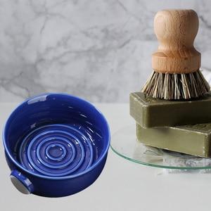 Image 5 - 2 Colors Ceramic Shaving Lather Bowl Thread Bottom Wide Mouth Man Wet Shaving Pottery Soap Cream Mug