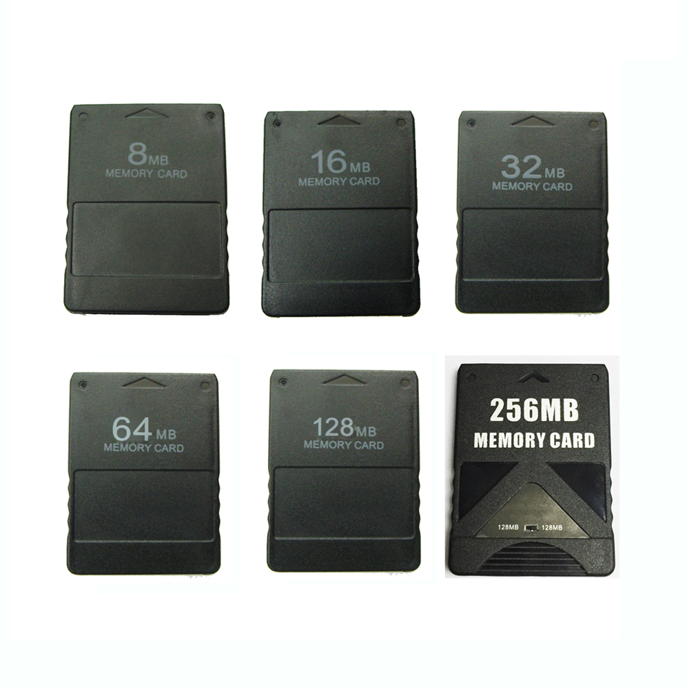 100pcs 8 16 32 64 128 256MB Memory Card for <font><b>Sony</b></font> for <font><b>PS2</b></font> for <font><b>PlayStation</b></font> <font><b>2</b></font> high speed memory card image