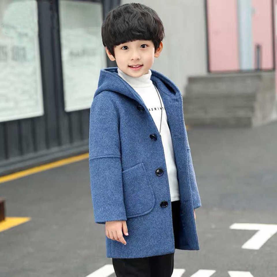 2019 Fashion Autumn Winter New Boy Woolen Jackets Fashion Children S Coat Kids Boys Hooded Korean Style Clothing Outwear Wool Blends Aliexpress