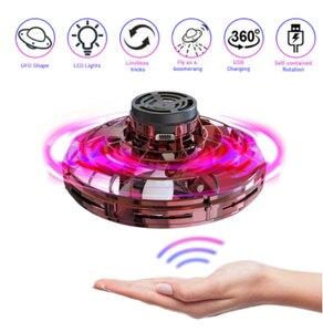Juguete deportivo flynova, rotador de mano, Dron UFO led, fidget finger spinner, juego interesante de regalo para niños, juguete volador