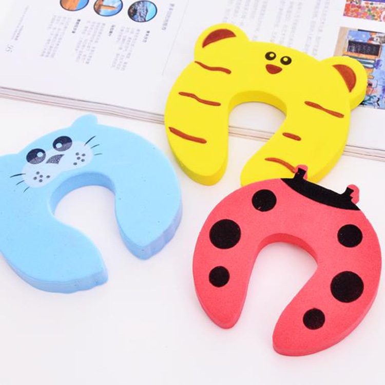 CHILDREN'S Cartoon Door Holder Animal Modeling Prevent Baby Door Holder Hand Door Stop Safety Door Stopper Blocking