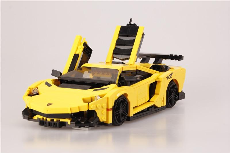 Купить technic moc творческие кирпичи 834 шт lammborghiinii гоночный