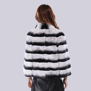Image 4 - 2020 Hot Sale Women Winter Hight Quality Real Rex Rabbit Fur Coat Russia Lady Warm Natural 100% Genuine Rex Rabbit Fur Jacket