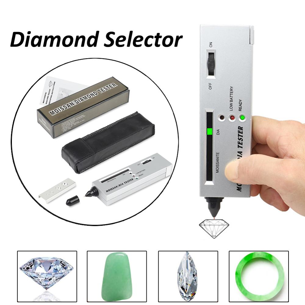 Diamond Tester Indicator Gemstone Selector II Gems LED Indicator Jewelry Test V2 High Accuracy Gem Watcher Tool Test Pen