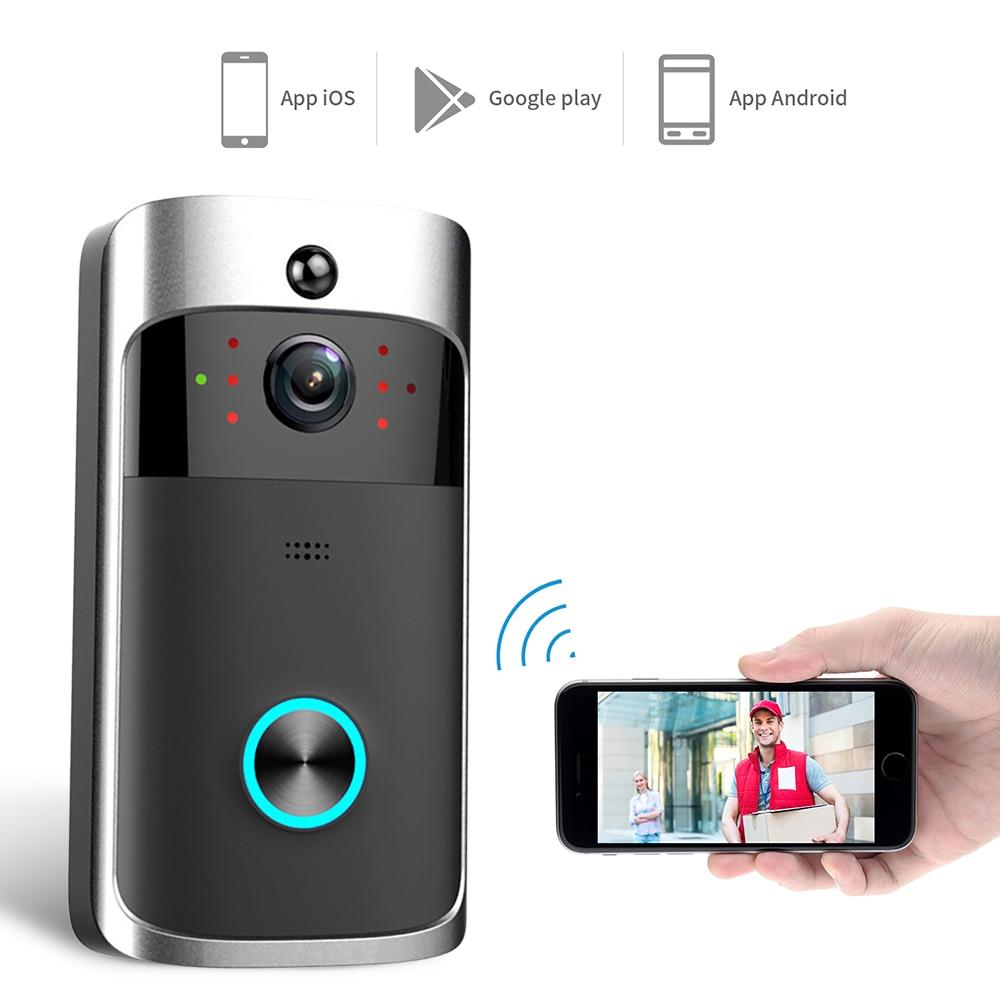 Умный IP видеодомофон Wi Fi видеодомофон дверной звонок wifi дверной Звонок камера для квартиры ИК сигнализация беспроводная камера безопасности|Видеодомофон|   | АлиЭкспресс