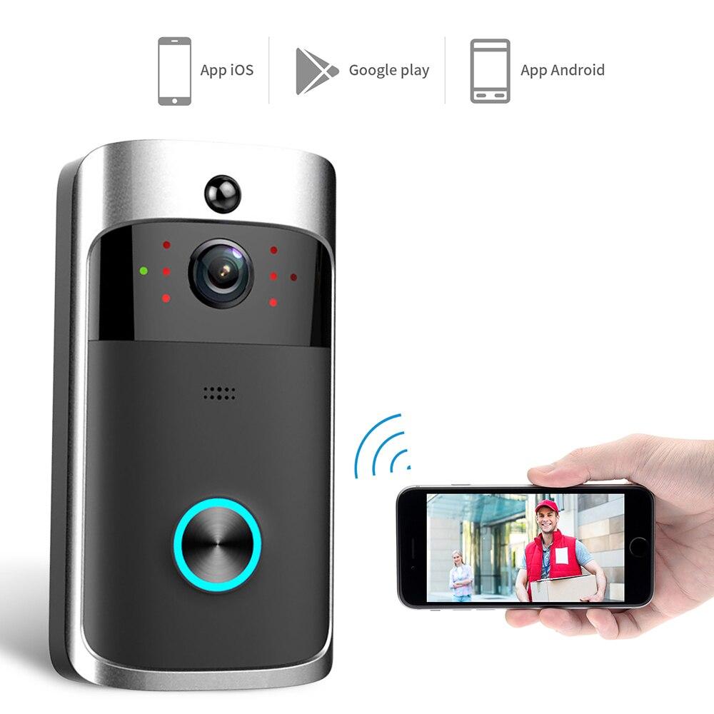 Intercomunicador de video inteligente da porta, video ip wi-fi para a porta com campainha e telefone câmera para apartamentos ir alarme sem fio câmera de segurança