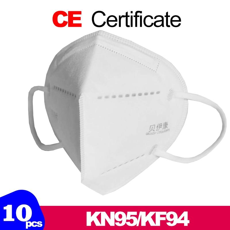 10pcs mask N95 anti virus Professional Mask Pre sale  Disposable Elastic Mouth Soft Breathable  CE Face Mask N95 anticorona mask 1