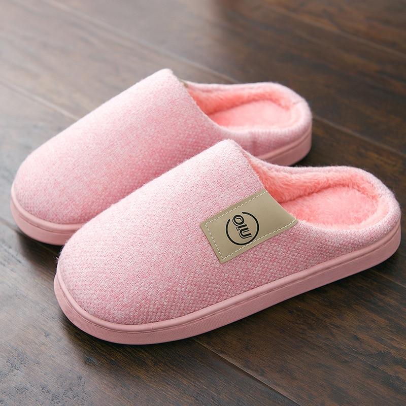 Classic Women Winter Warm Fur Slippers Men Women Boys Girls Slippers House Shoes Flat Heel Home Indoor Bedroom Zapatilla Mujer 1