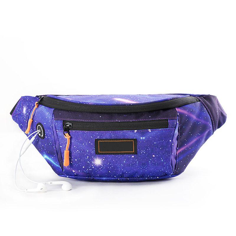 Galleria fotografica Unisex Travel Summer Fanny Pack Hip Bum Waist Bag Belt Purse Chest Phone Pouch