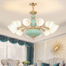 Modern Ceramic Pendant Lamps LED Light European Gold Pendant Lights Fixture Hanging Lamp Hotel Hall Lobby Home Indoor Lighting zx modern european large chandelier luxury fashion metal tassel led e27 pendant light for hall hotel art aluminum indoor lamp