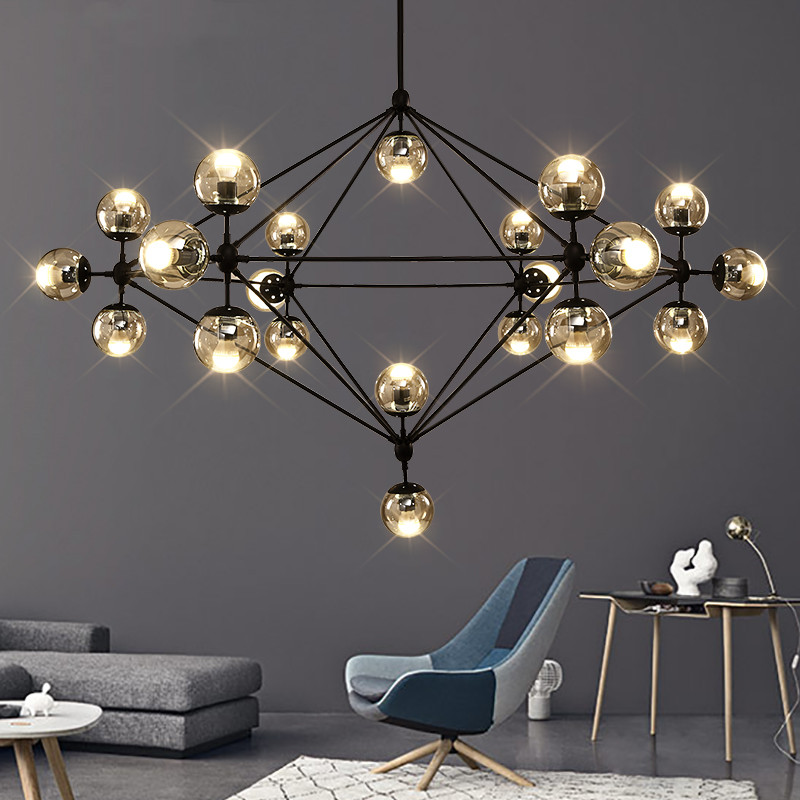 Industrail Vintage Loft Chandelier Glass Bubble Chandelier for Living room Bedroom Kitchen Island mall staircase chandelier