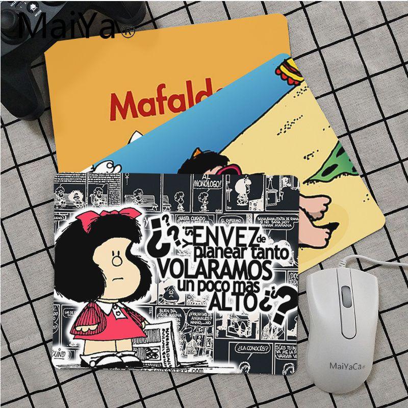 Maiya Top Quality Cartoon Mafalda Mouse Pad Gamer Play Mats Top Selling Wholesale Gaming Pad Mouse