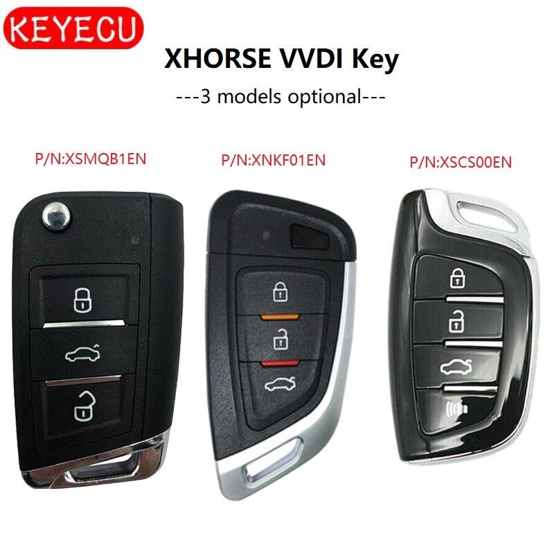 Keyecu XHORSE (Englisch Version) Universal Smart Proximity Control Car Key-FOB für VVDI Schlüssel Werkzeug, VVDI Mini Schlüssel Werkzeug VVDI2