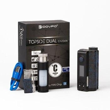Nieuwe Originele Dovpo Bovenzijde Dual Carbon Squonk Mod Met Yihi Chip Power Door Dual 18650 Batterij Max 200W Uitgang e-Sigaret Mod Vs Slepen 2