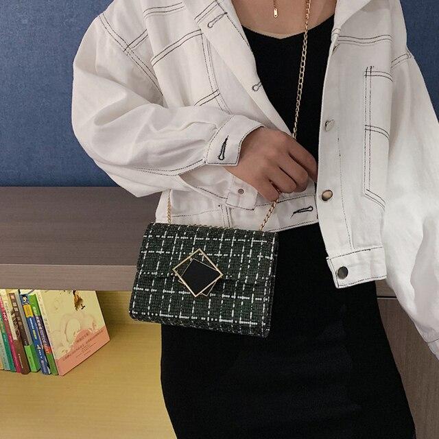 2020 Worean Shoulder Bag Luxury Handbags Women Bags Designer Version Wild Girls Small Square Messenger Bag Bolsa Feminina Luggage & Bags