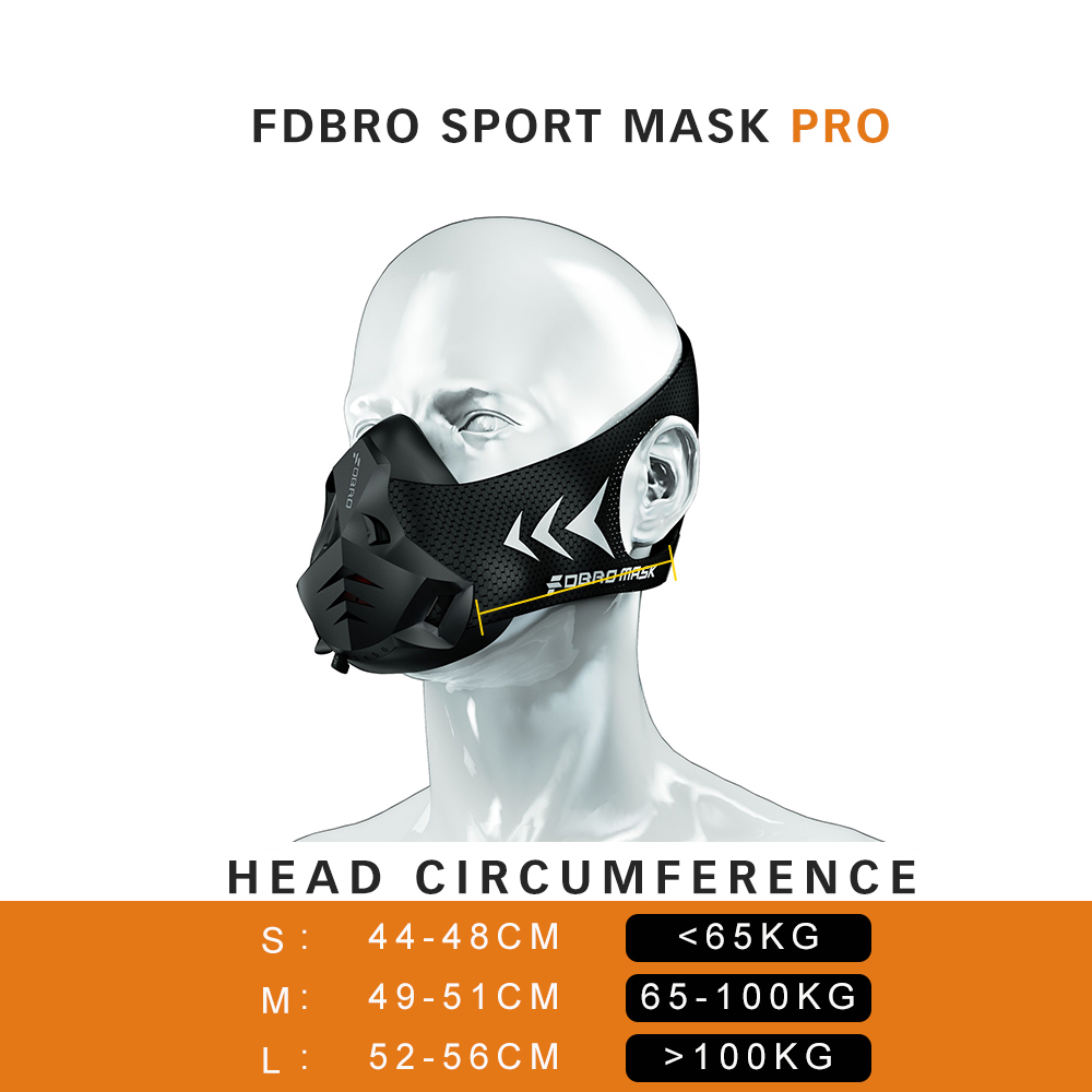 Image 5 - FDBRO Fitness training sports mask Pro Exercise Workout Running Resistance Cardio Endurance sport High Altitude Athletics Mask-in Masks from Security & Protection