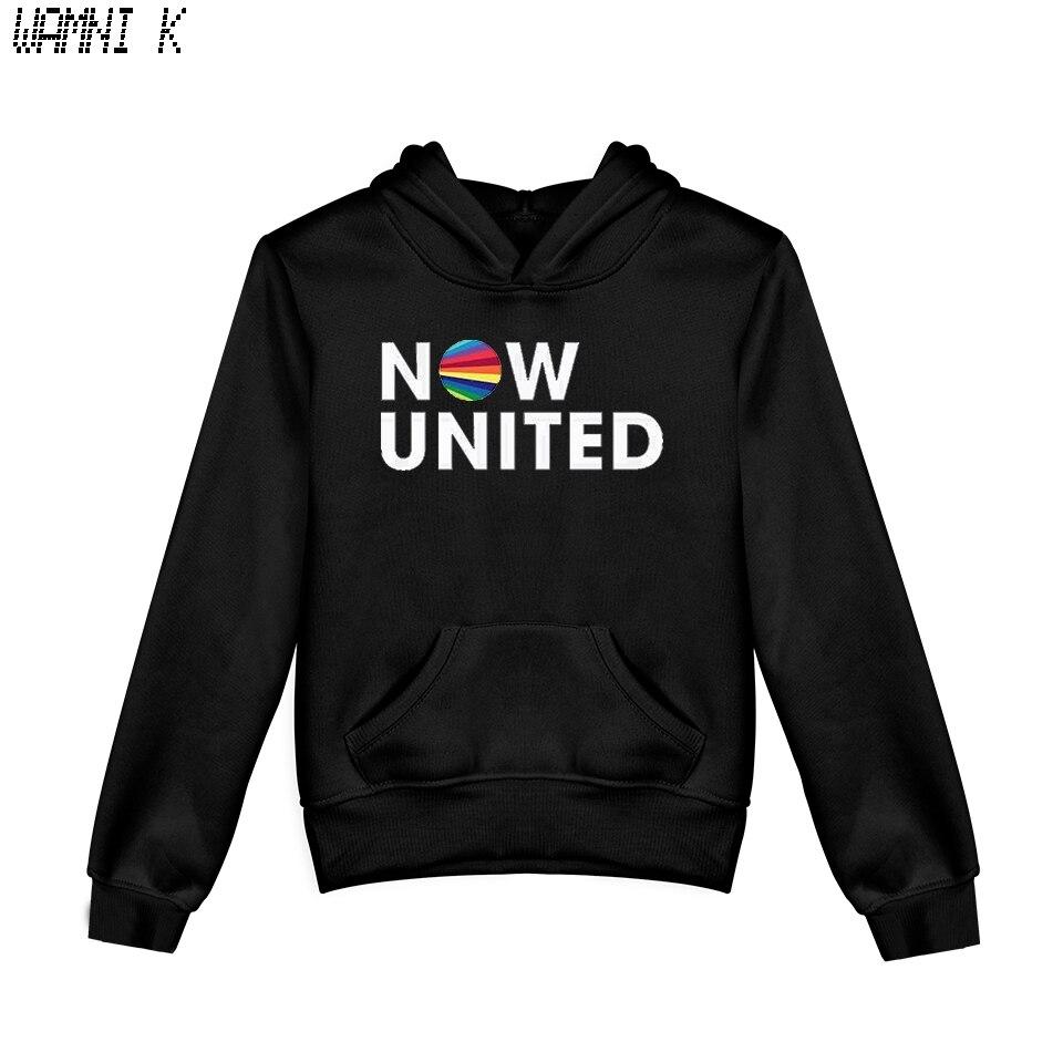 WAMNI 2020 Now United - Better Album Kids Hoodie Sweatshirts Boy Girl Better Now United Lyrics Pullover Harajuku Tracksui