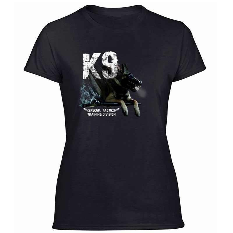 Moda Malinois K9 özel taktik T Shirt erkekler için serin ekip boyun erkek kız Tee gömlek erkekler için Tee Tops