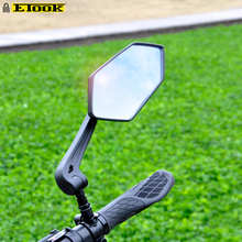 ETOOK Bicycle Rear View Mirror Handlebar Reflector Wide-Range Adjustable Angles Mirror Mountain Bike E-Scooter Accessories