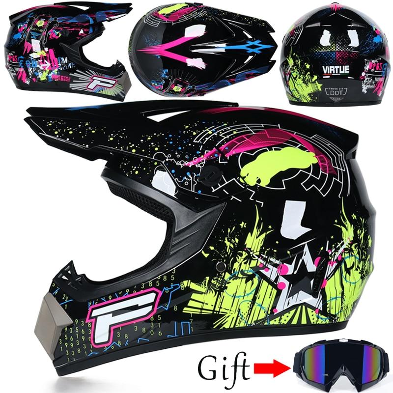 Profesional Off Road helmet Light weight Suitable for kid ATV Dirt bike Downhill mountain helmet DOT