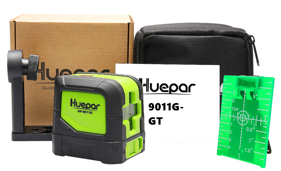 Huepar 2 Lines Laser Level Self Levelling Green Red Beam Laser Horizontal Vertical Cross Line with Magnetic Base in Laser Levels from Tools